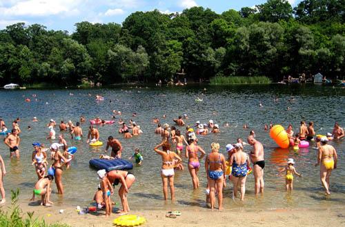 белое озеро температура воды летом